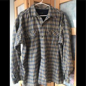 Men's Flannel Shirt by Patagonia Blue & Cream XL
